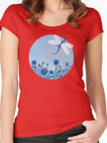 Have you ever seen a dragon fly? Women's Fitted Scoop T-Shirt
