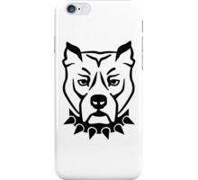 Pit bull head face iPhone Case/Skin