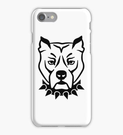 Pit bull head face iPhone Case/Skin