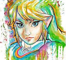 Epic Link Watercolor Tshirts + More ' Legend of Zelda ' by Jonny2may