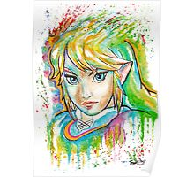 Epic Link Watercolor Tshirts + More ' Legend of Zelda ' Jonny2may Poster