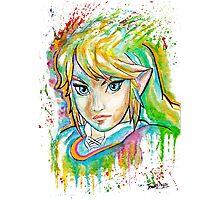 Epic Link Watercolor Tshirts + More ' Legend of Zelda ' Photographic Print