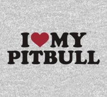 I love my Pitbull Baby Tee
