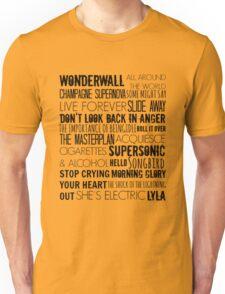 Oasis Songs  Unisex T-Shirt