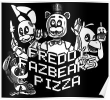 Black and White Pizza Poster