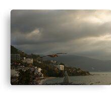 air traffic - tráfico aéreo Canvas Print