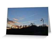 Evening Sky at Lyme Dorset UK Greeting Card