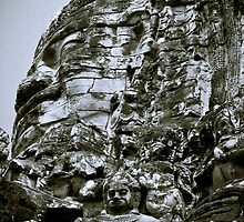Stoney Faces - Cambodia by Stephen Permezel
