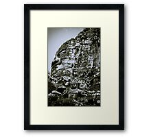 Stoney Faces - Cambodia Framed Print