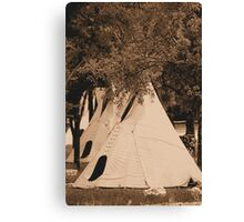 Three Little Indians Canvas Print