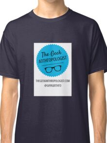 The Geek Anthropologist Logo and Contact Infos Classic T-Shirt
