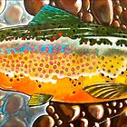 Pumpkin Seed - Trout Painting by Eric Houghland