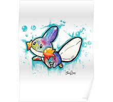 Cute Mudkip Watercolor Tshirts + More! ' Pokemon ' Poster