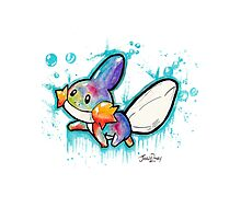 Cute Mudkip Watercolor Tshirts + More! ' Pokemon ' Photographic Print