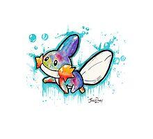 Cute Mudkip Watercolor Tshirts + More! ' Pokemon ' Jonny2may Photographic Print