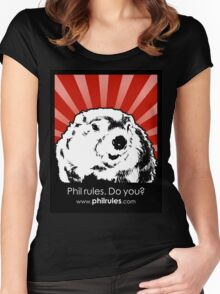 Phil Rules. Do you? (Punxsutawney) Women's Fitted Scoop T-Shirt