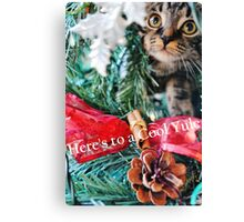 Cool Yule Cat Canvas Print