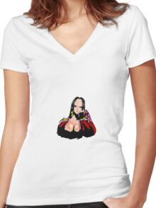 Boa Hancock One Piece Women's Fitted V-Neck T-Shirt