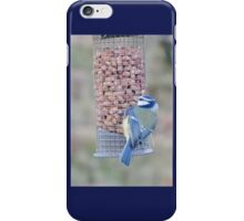 Feeding time for Blue Tit............ iPhone Case/Skin