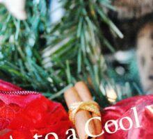 Cool Yule Cat Sticker