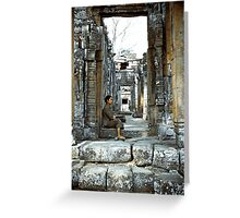 Passing Time - Temples of Angkor, Cambodia Greeting Card