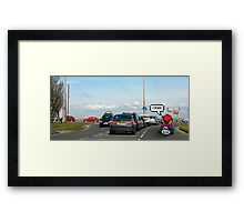 Mario-Kart Traffic Framed Print