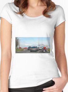 Mario-Kart Traffic Women's Fitted Scoop T-Shirt
