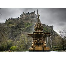 Castle and Fountain Photographic Print