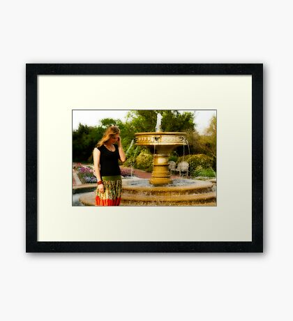 Jude and a fountain Framed Print