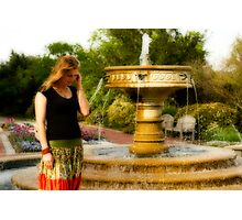 Jude and a fountain Photographic Print