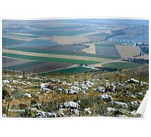 The landscape of the Gilbo'aa, Israel Poster