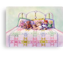 KEEPSAKES on my BED by SHARON SHARPE Canvas Print