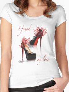 I found my love Women's Fitted Scoop T-Shirt