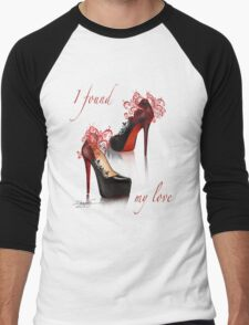 I found my love Men's Baseball ¾ T-Shirt