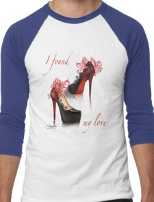 I found my love Men's Baseball ¾ T-Shirt