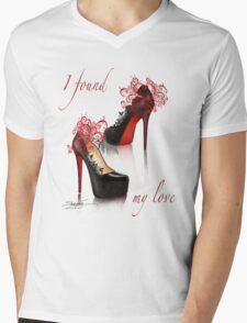 I found my love Mens V-Neck T-Shirt