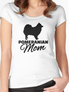 Pomeranian Mom Women's Fitted Scoop T-Shirt