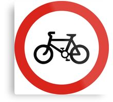 Cycling forbidden Metal Print
