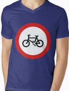 Cycling forbidden Mens V-Neck T-Shirt