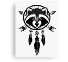 Raccoon Catcher Canvas Print
