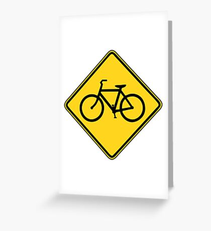 Bicycle Crossing Greeting Card