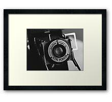 King Penguin Folding Camera Framed Print