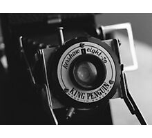 King Penguin Folding Camera Photographic Print