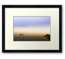 Departing Barge Framed Print