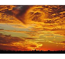 Sunset over New York City  Photographic Print