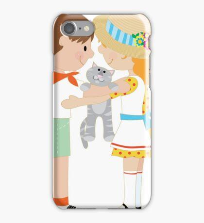 Kids and Kitten iPhone Case/Skin