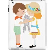 Kids and Kitten iPad Case/Skin