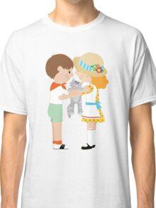 Kids and Kitten Classic T-Shirt