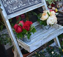 French Flower Shop Roses by Carla Parris