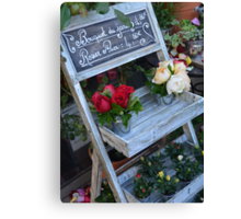 French Flower Shop Roses Canvas Print